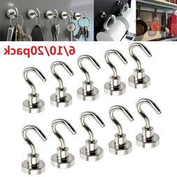 20X 12LB Magnetic Hook Hooks Heavy Duty Hanger Hanging Potho