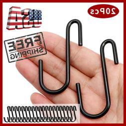 20x S Hooks Heavy Duty Metal S Hanging Hooks Garden Hangers