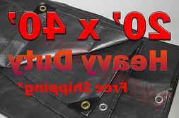 20x40 Silver Heavy Duty UV Treated Tarp Shade Canopy Cover T