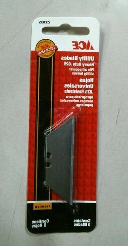 Ace 23305, Utility Blades Heavy Duty .025, 5 Blades In Packa