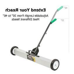 "24"" Heavy Duty Magnetic Sweeper Pickup Push Broom Floor Clea"