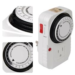 24 Hour Heavy Duty Mechanical Programmable Timer Outlet Plug
