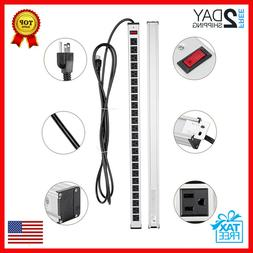 24 Outlet Metal Housing Power Strip with 15 Foot Long Heavy