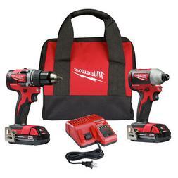 Milwaukee 2892-22CT M18 Compact Brushless 2-Tool Combo Kit,