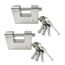 2pcs  Heavy Duty Security Padlock Chain Lock Shipping Contai