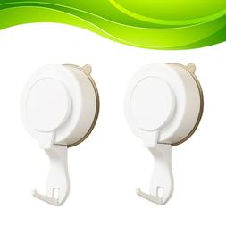 2pcs Suction Cup Hooks Removable Heavy-duty Sucker Hooks Wal