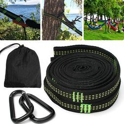 2x 3m Hammock Straps Tree Strong Heavy Duty Hanging Belt + 2