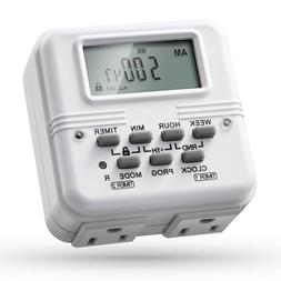 2x 7 Day 24H Heavy Duty Digital Electric Programmable Timer