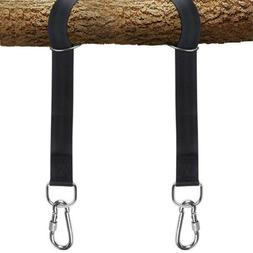 2x Functional Hammock Tree Swing Straps Ropes W/2x Heavy Dut