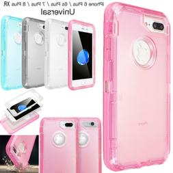 3-In-1 Shockproof Heavy Duty Clear Phone Case Cover For iPho