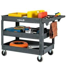 3 Shelf Heavy Duty Utility Cart with Rounded Corners for Too