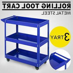 3Tierr Rolling Tool Cart w/Handle Utility Service Cart Garag