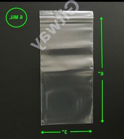 """3"""" x 6"""" Heavy Duty Clear Resealable Ziplock Zip Lock 3x6"""" FD"""