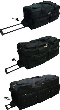 """30""""/36""""/42"""" Rolling Wheeled Suitcase Travel Duffel Bag on Wh"""