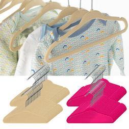 30pk Zober Kids Baby Clothes Hangers Nonslip Velvet Space Sa