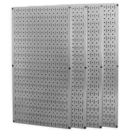 Wall Control 30-P-3264GV Galvanized Steel Pegboard Pack -  3