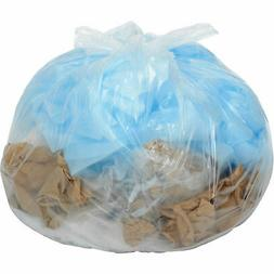 33 Gallon Heavy Duty Clear Trash Bags, 1.4 Mil, 100 Bags/Cas