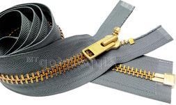 2pcs 36 Inch YKK #10 Extra Heavy Jacket Zipper Bulk Chaps Se