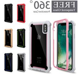 360° Full Clear Case Cover Shockproof Heavy Duty Hybrid For