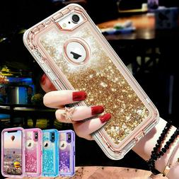 360° Liquid Glitter Bling Heavy Duty Case Cover For iPhone