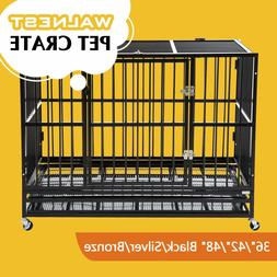 """37""""/42""""/48"""" Heavy Duty Large  Dog Crate Kennel Pet Cage Hous"""