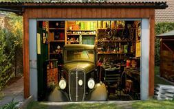 3D Car Shelves 23 Garage Door Murals Wall Print Decal Wall D