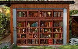 3D Wood Shelves 8 Garage Door Murals Wall Print Decal Wall A
