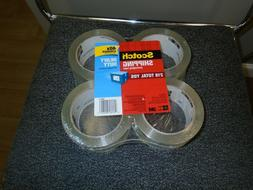 """3M Scotch 4 pack 40X stronger Packing Tape Heavy Duty 1.88"""""""