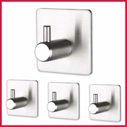 3M Self Adhesive Hooks Wall Coat Clothes Hanger Heavy Duty H