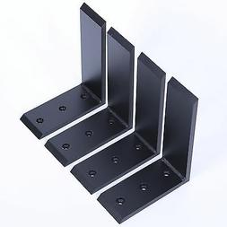 "4 Heavy Duty Black Steel 6""x8"" Countertop Support Bracke"