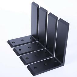 """4 Heavy Duty Black Steel 6""""x8"""" Countertop Support Bracke"""