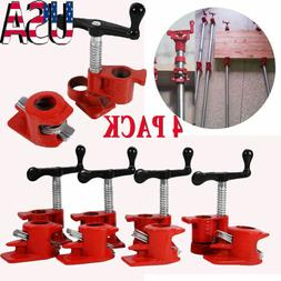 "1/2"" Wood Gluing Pipe Clamp Set Heavy Duty PRO Woodworking"