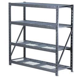4-Shelf Welded Steel Garage Storage rack, Heavy Duty Shelvin