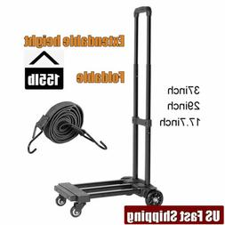 4 Wheels Folding Trolley Hand Truck Heavy Duty Dollies Cart