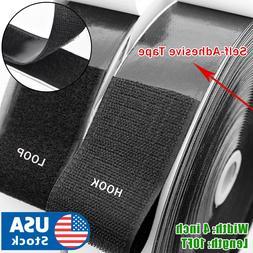 """4""""x10FT Hook & Loop Self Adhesive Heavy Duty Tape Industrial"""