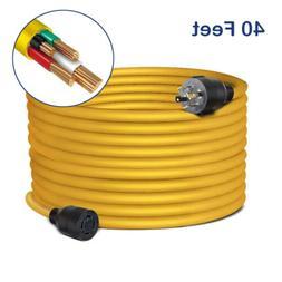 40 Feet Nema L14-30 Generator Power Cord Heavy Duty Electric