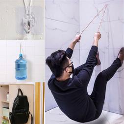 4Pcs Adhesive Strong Transparent Wall Hanger Hooks Space Sav