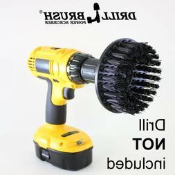5 Inch Black Ultra Stiff Drill Brush for Heavy Duty Cleaning