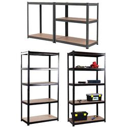 5 Level Heavy Duty Adjustable Shelves Storage Rack Garage Me