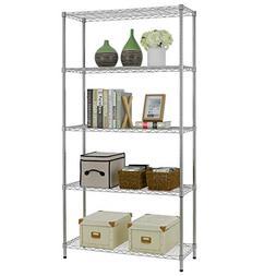 5 Shelf Wire Shelving Unit Garage NSF Wire Shelf Metal Large