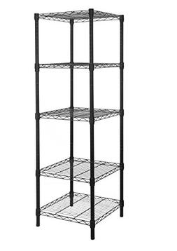 HollyHOME 5 Shelves Adjustable Steel Wire Shelving Rack in S