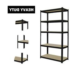 Industrial 5 Tier Metal Heavy Duty Racking Shelves Storage U