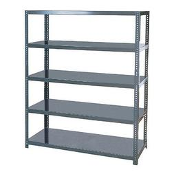 5-Tier Industrial Steel Storage Shelving Large Freestanding