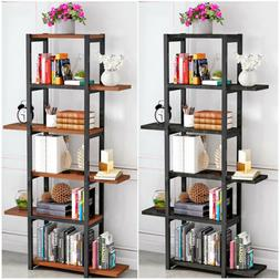 5 Tiers Bookcase Shelf Free Standing Shelves Storage Display