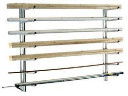 """50"""" Heavy Duty Galvanized Steel Wall Mount Wood Pipe Garage"""