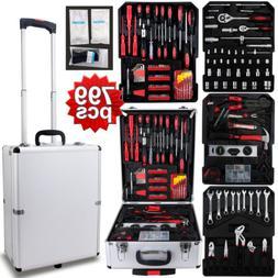 999 pcs Tool Set Standard Metric Mechanics Kit with Trolley
