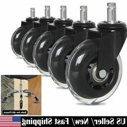 """5Pcs 3"""" Heavy Duty Swivel Caster Wheels for Office Home Ch"""