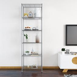 Kaluo 6 Tier Adjustable Metal Heavy Duty Wire Shelving Units