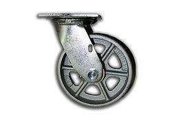 """6"""" x 2"""" Swivel Steel Caster 1250# Capacity w/ Semi Steel Alb"""