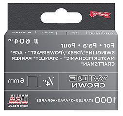 Arrow Fastener 604 Wide Crown Swingline Heavy Duty 1/4-Inch